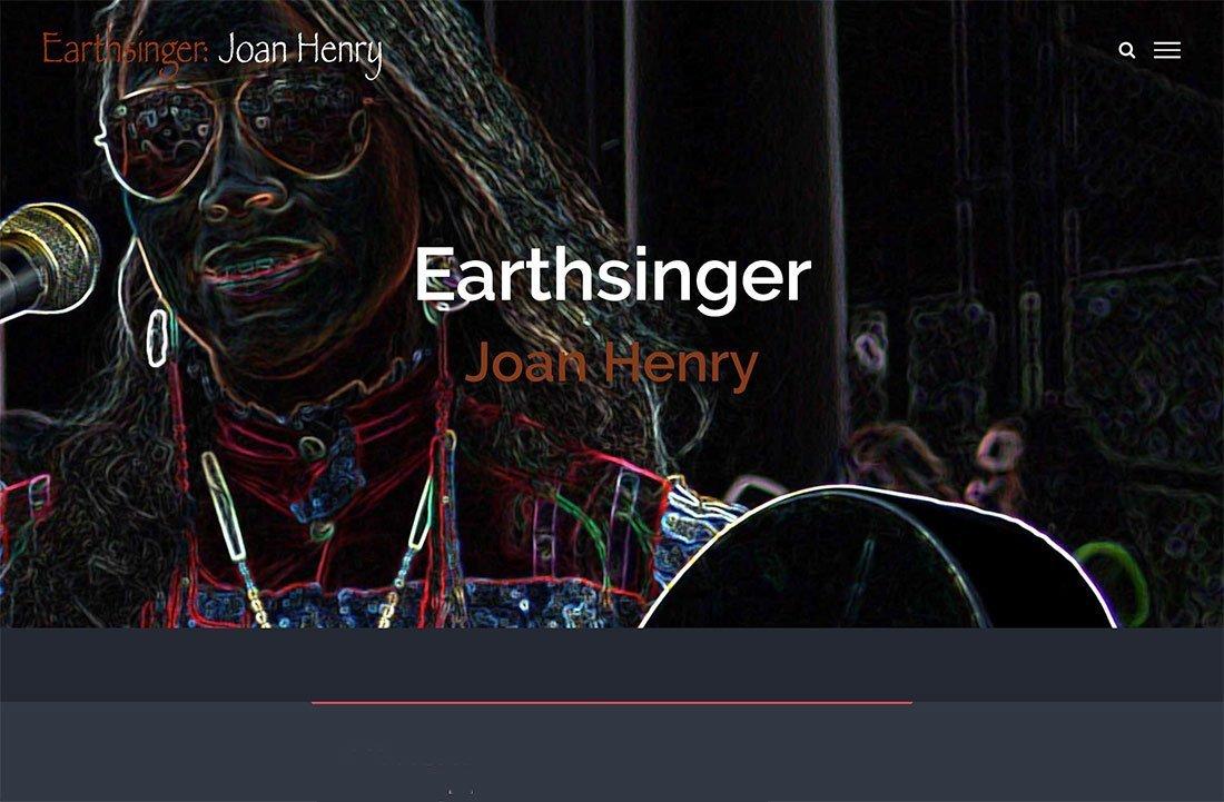 Earthsinger : Joan Henry   Webworks Design